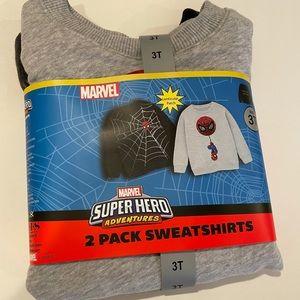MARVEL SPIDER-MAN 2 pack sweatshirts